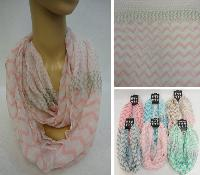 Light Weight Infinity Scarf [Chevron & Polka Dots]